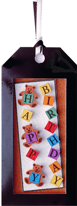 birthday bear gift tag design hand made cut out copyrighted design